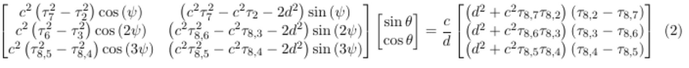 near field angle of arrival equation